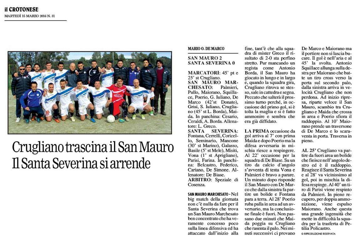 San Mauro  vs Santa Severina
