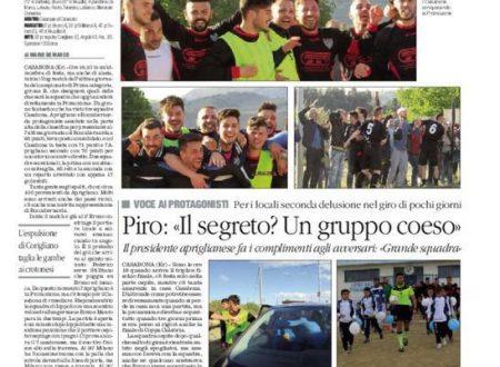 L'Aprigliano vola in Promozione . Quotidiano del sud 25 aprile 2016